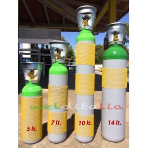BOMBOLA RICARICABILE 5 LT. 200 BAR MISCELA ARGON CO2 X SALDATRICE A FILO EE