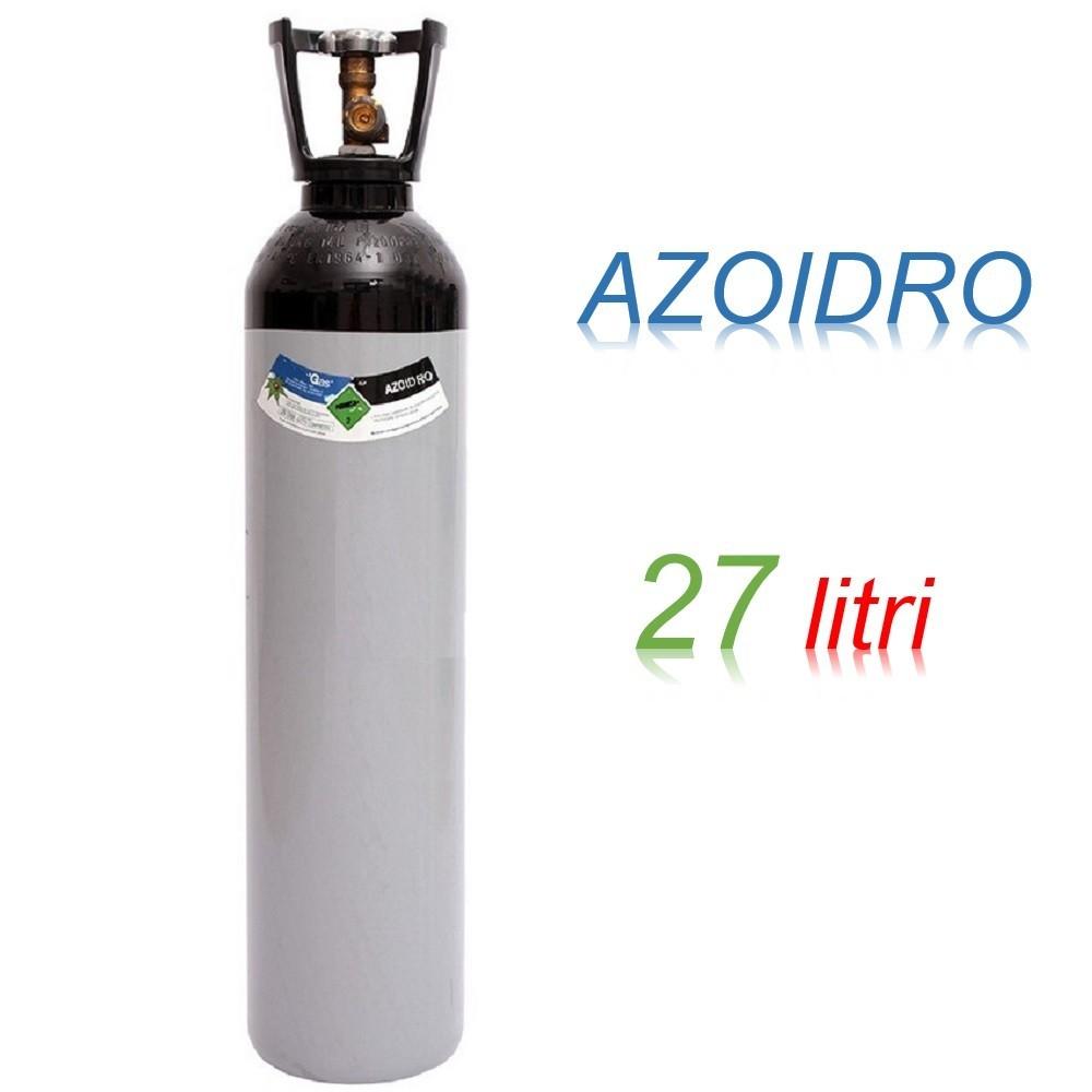 Bombola 27 litri AZOIDRO Ricaricabile 200 bar AZOTO 95% IDROGENO 5% EE