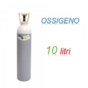 Bombola OSSIGENO 10 litri Ricaricabile 200 bar O2 EE