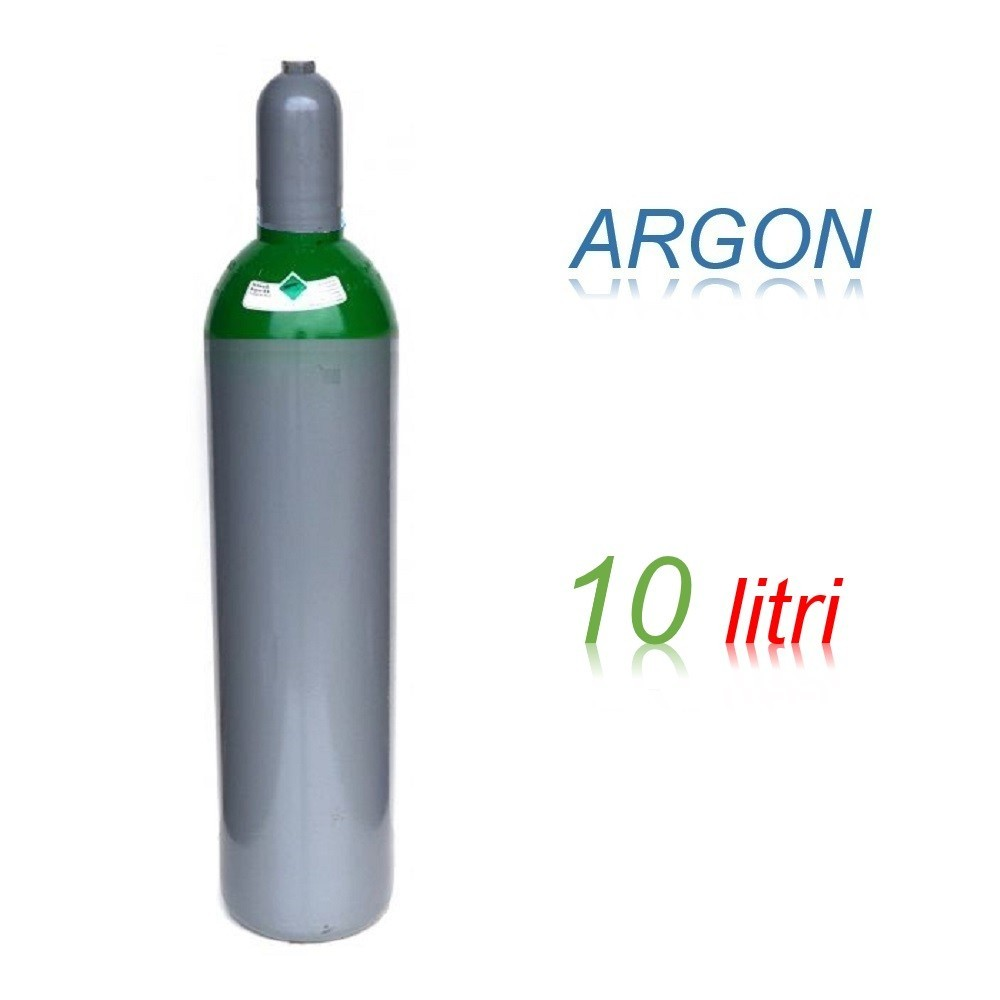 Bombola 10 litri miscela ARGON Ricaricabile 200 bar per saldatrice a filo EE