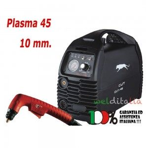 Taglia Metalli al Plasma Inverter 230 v CUT 45 A WELDITALIA 10 mm.