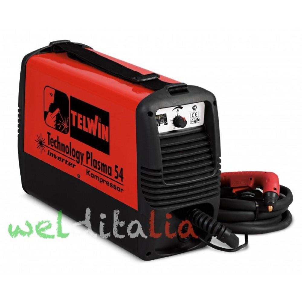 Taglia Metalli al Plasma Telwin TECHNOLOGY PLASMA 54 KOMPRESSOR 230V cod. 815088 con compressore