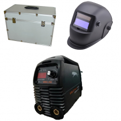Saldatrice inverter MMA 200A + valigetta alluminio + accessori + maschera LCD WELDITALIA