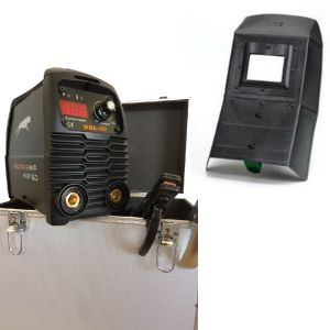 KIT Saldatura Saldatrice inverter MMA 160 A digitale + valigetta alluminio + accessori + Maschera