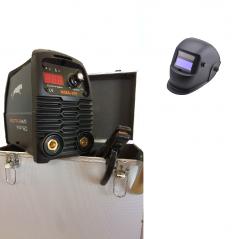 KIT Saldatura Saldatrice inverter MMA 160A digitale + valigetta alluminio + accessori + maschera LCD Welditalia