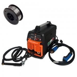 Saldatrice filo TIG elettrodo inverter WELDITALIA MIG 200A eletrodo gas no gas 230v + Bobina Filo Animato