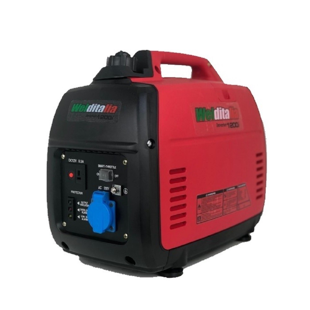 Generatore di corrente inverter silenziato 1,2 KW Welditalia GT-1200i portatile
