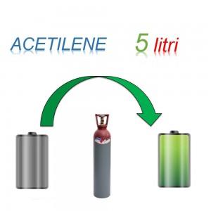 Servizio Ricarica Bombola Acetilene 5 Litri - Ritiro - Carica - Consegna