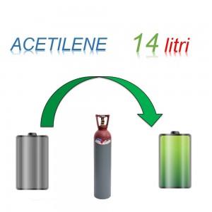 Servizio Ricarica Bombola Acetilene 14 Litri - Ritiro - Carica - Consegna