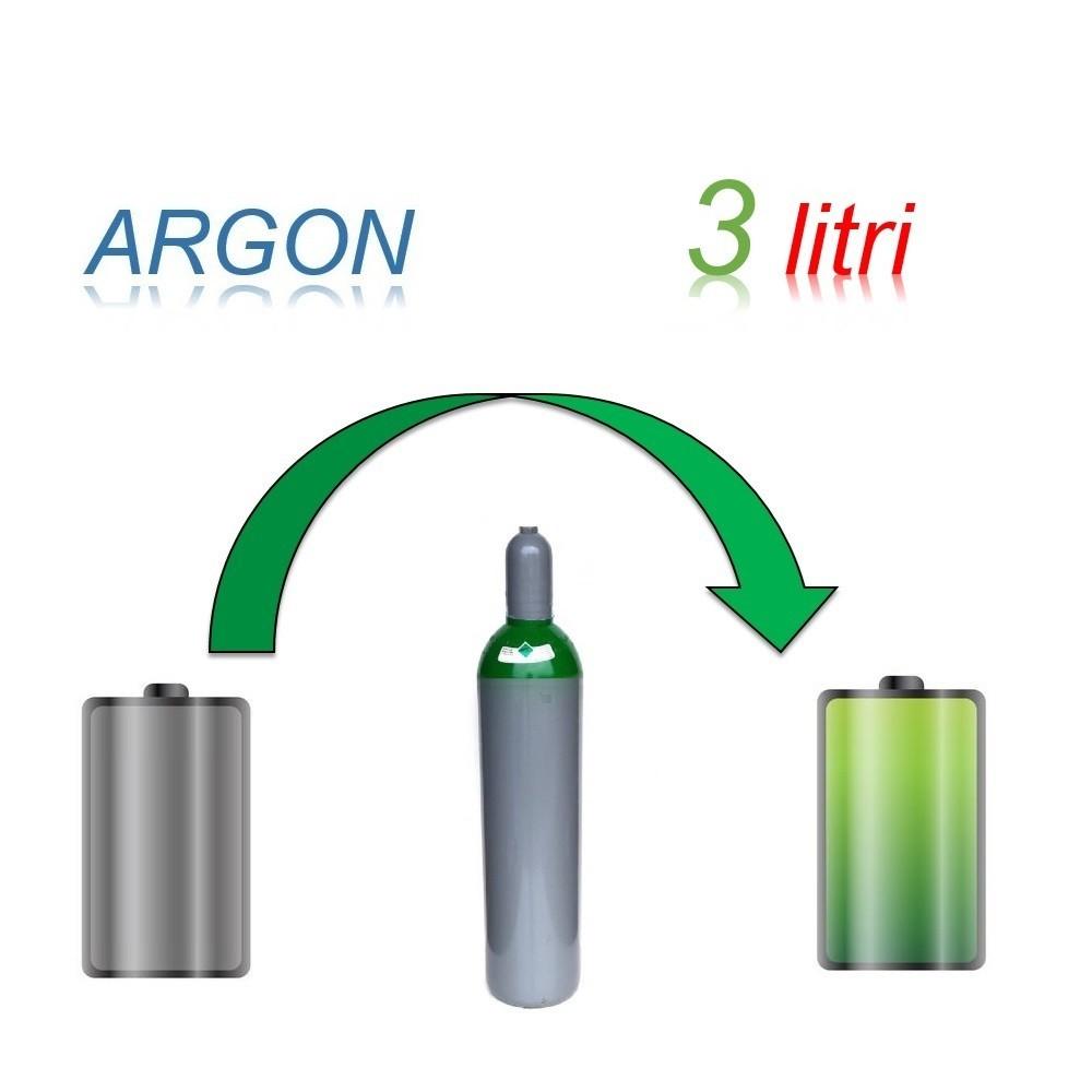 Servizio Ricarica Bombola Argon 3 Litri - Ritiro - Carica - Consegna