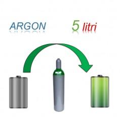 Servizio Ricarica Bombola Argon 5 Litri - Ritiro - Carica - Consegna