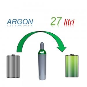 Servizio Ricarica Bombola Argon 27 Litri - Ritiro - Carica - Consegna