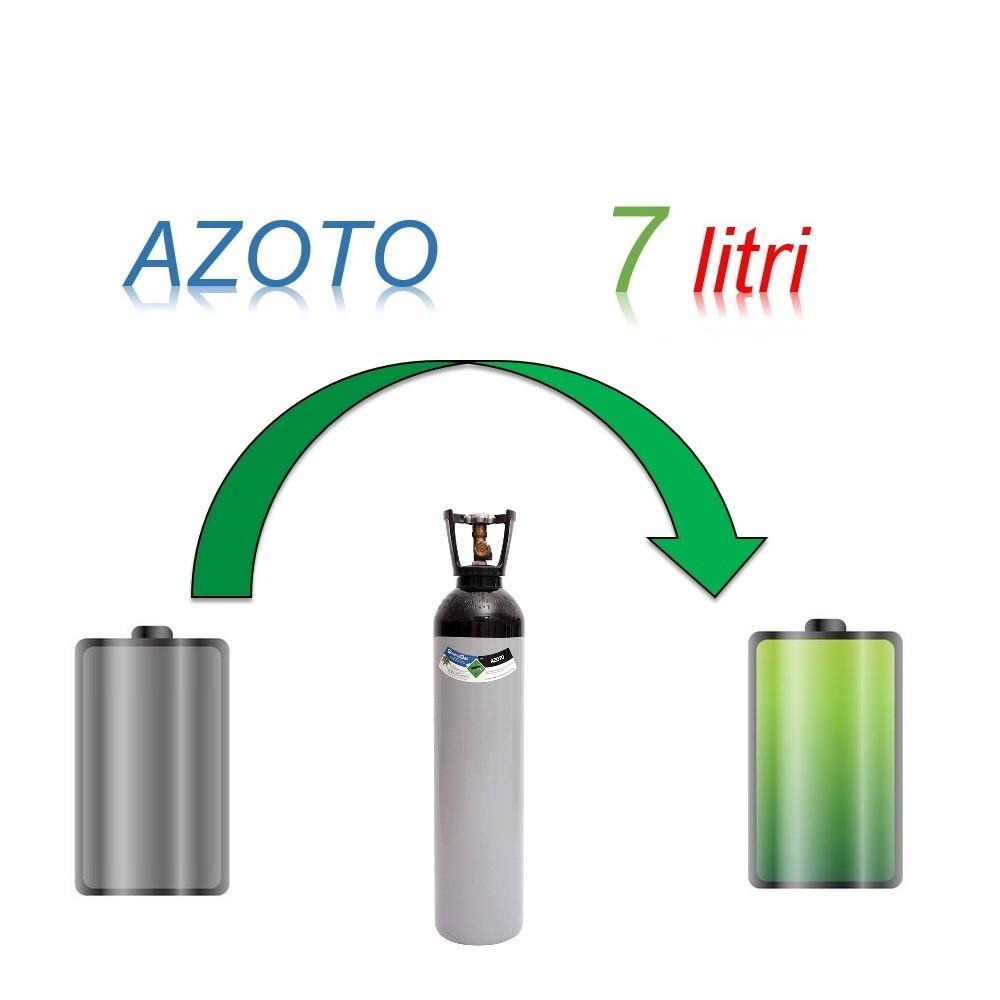 Servizio Ricarica Bombola Azoto 7 Litri - Ritiro - Carica - Consegna