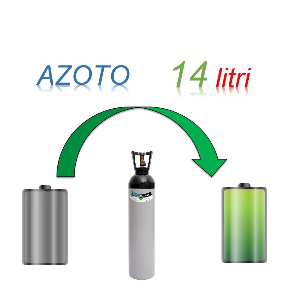 Servizio Ricarica Bombola Azoto 14 Litri - Ritiro - Carica - Consegna
