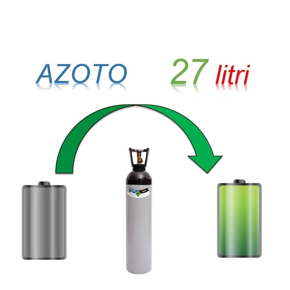 Servizio Ricarica Bombola Azoto 27 Litri - Ritiro - Carica - Consegna