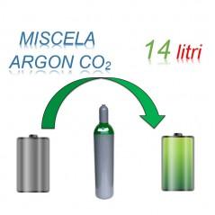 Servizio Ricarica Bombola Miscela Argon-Anidride Carbonica 14 Litri - Ritiro - Carica - Consegna Ar+CO2