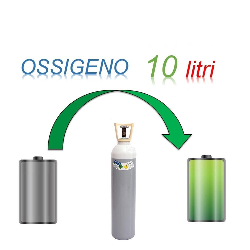 Servizio Ricarica Bombola Ossigeno 10 Litri - Ritiro - Carica - Consegna