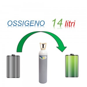 Servizio Ricarica Bombola Ossigeno 14 Litri - Ritiro - Carica - Consegna
