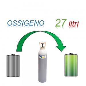 Servizio Ricarica Bombola Ossigeno 27 Litri - Ritiro - Carica - Consegna