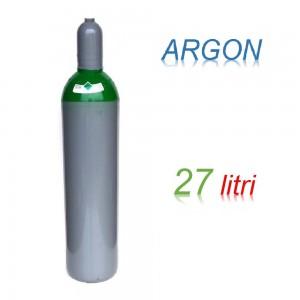 Bombola 27 litri ARGON Ricaricabile 200 bar EE per saldatrice a filo e TIG