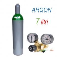Bombola 7 litri ARGON Ricaricabile 200 bar EE + riduttore di pressione per saldatrice a filo e TIG
