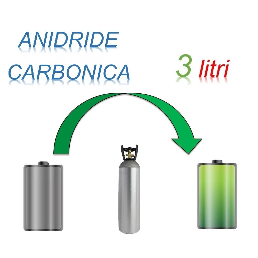Servizio Ricarica Bombola Anidride Carbonica 3 Litri - Ritiro - Carica - Consegna CO2