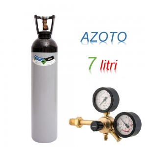 Bombola 7 litri AZOTO Ricaricabile 200 bar EE + riduttore di presssione Major 60 HP a 60 bar
