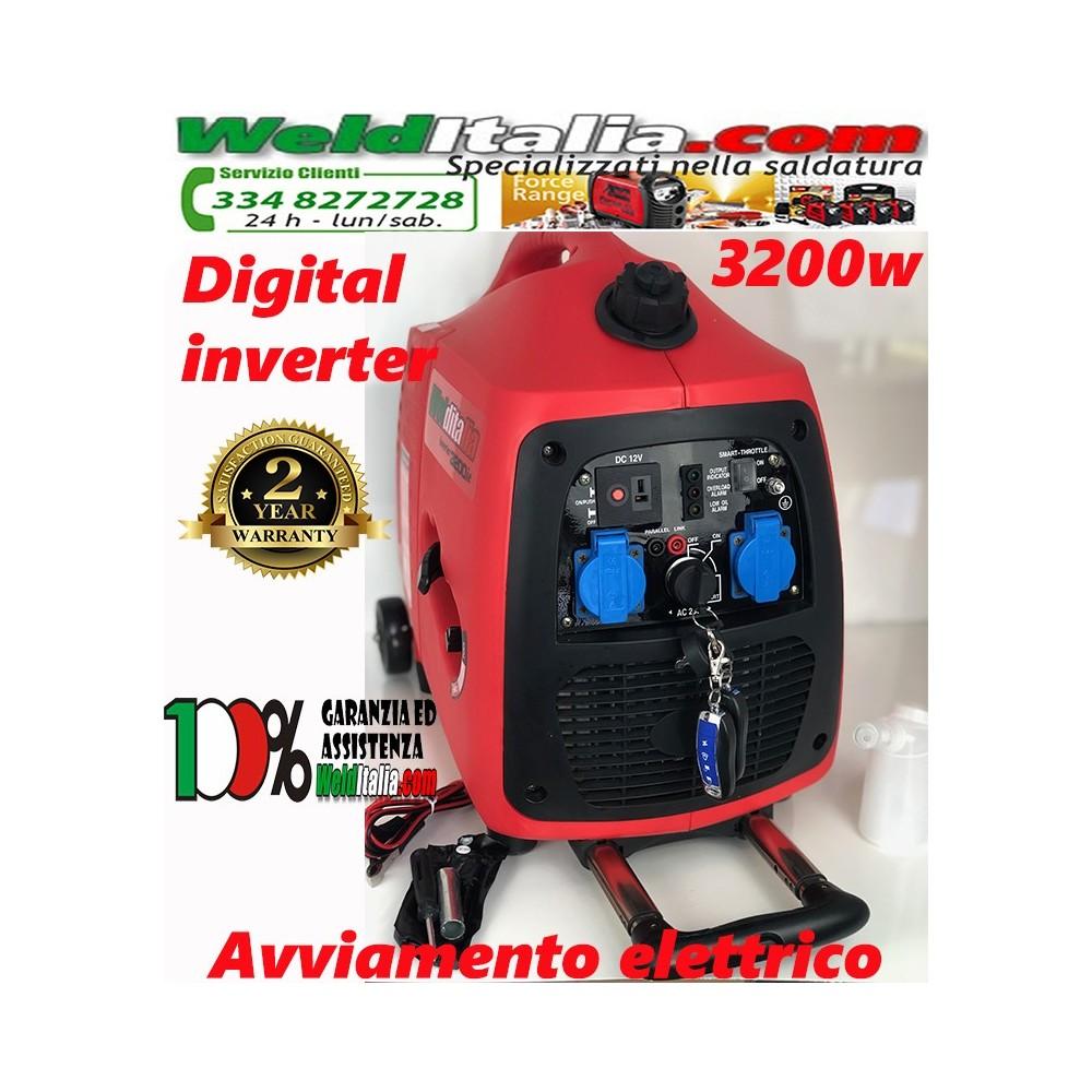 Generatore di corrente inverter 3,2 KW GT-3200ie 4 tempi silenziato avviamento elettrico