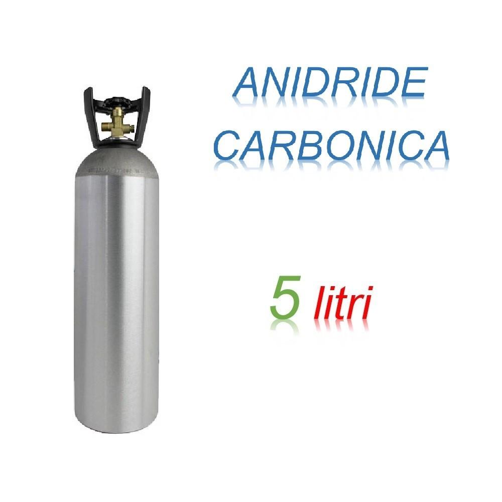 Bombola Anidrite Carbonica 5 litri Ricaricabile 200 bar CO2 per saldatrici a filo EE