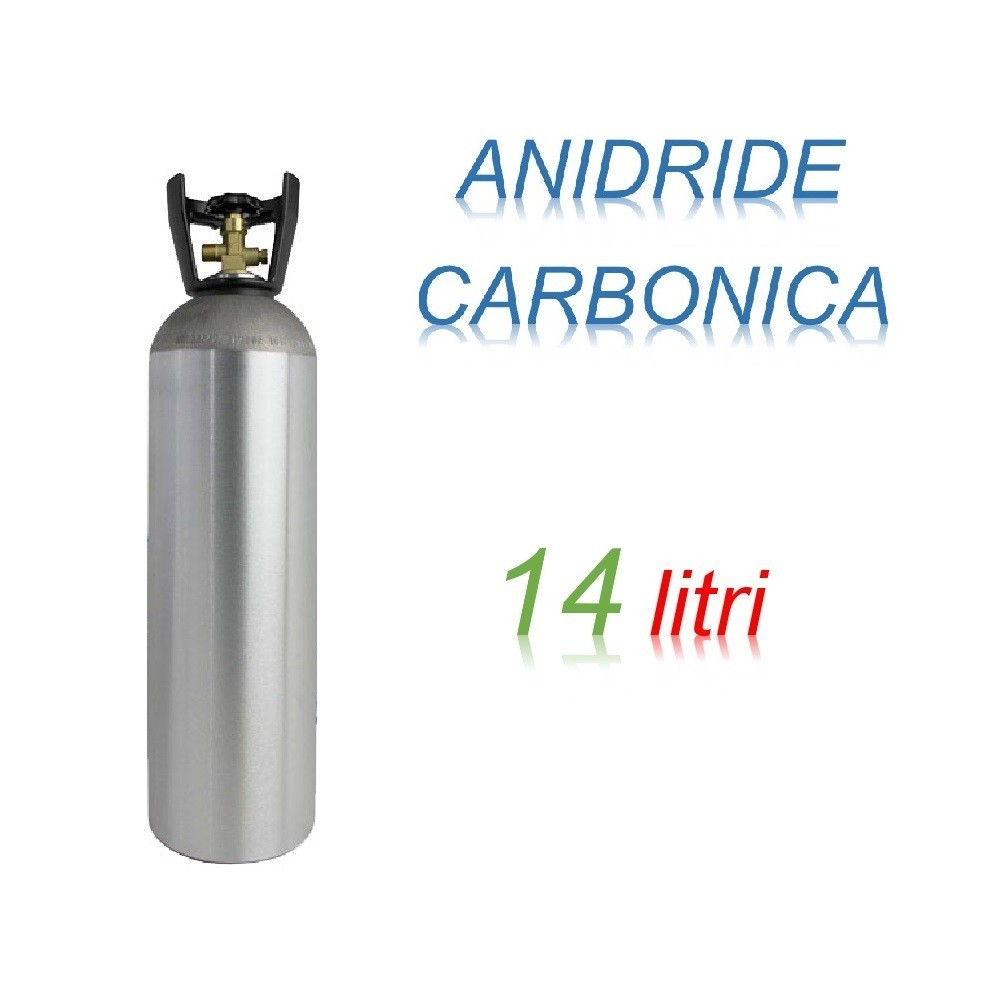 Bombola Anidrite Carbonica 14 litri Ricaricabile 200 bar CO2 per saldatrici a filo EE