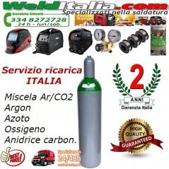 BOMBOLA RICARICABILE 7 LT. 200 BAR MISCELA ARGON CO2 X SALDATRICE A FILO EE