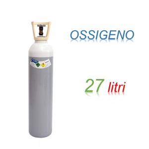 Bombola OSSIGENO 27 litri Ricaricabile 200 bar O2 CARICA