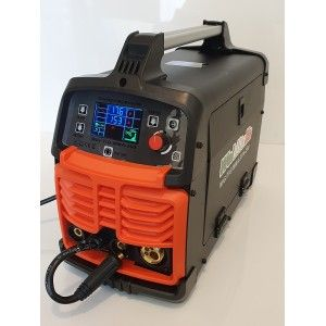 Saldatrice filo TIG elettrodo inverter WELDITALIA MIG 200A elettrodo gas no gas 230v + Bobina Filo Animato