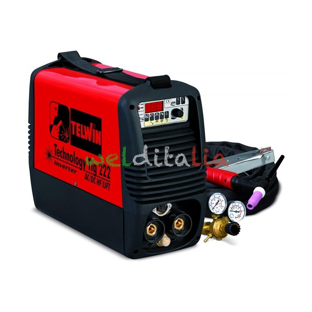Saldatrice inverter  TECHNOLOGY TIG 222 AC/DC-HF/LIFT 230V+AC cod. 852031