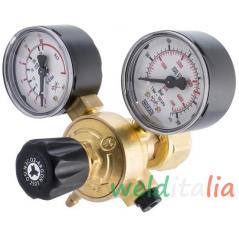 Riduttore di pressione miscela Argon/Anidride carbonica a 2 manometri